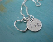 Personalized Hand Stamped Sterling Silver Tiny Love