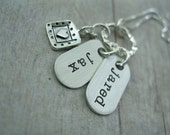 Mommy Jewelry Hand Stamped Sterling Silver Personalized Tag Trinkets Necklace
