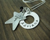 Gymnastic Star Personalized Hand Stamped necklace (Exclusive design)