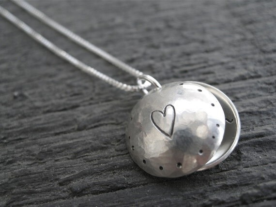 Personalized Hand Stamped Sterling Silver Necklace Loved  Inside  and  Out