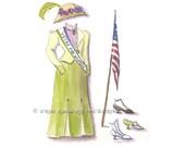 Suffragette Edwardian Fashion 8x10 fine art print