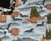 Loons Tied Fleece Blanket