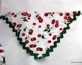 Housewife Kerchief - Cherry Cherry