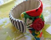 Retro Quilt Cuff Bracelet