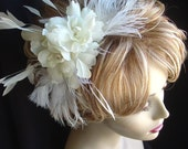 Camilla and Feather Fascinator with Swarovski Pearls
