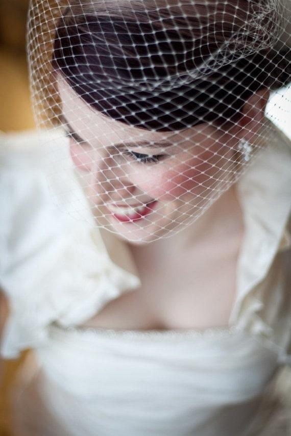 Birdcage Wedding Veil as seen in the StyleMePretty wedding blog-- Ready to Ship