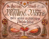 Hand Painted Wedding Certificates- Deposit (Love Birds)