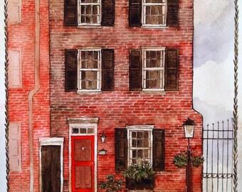 Hand Painted House & Estate Portraits- Deposit