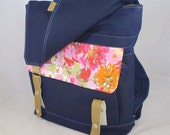 Flowers Waxed Canvas Backpack