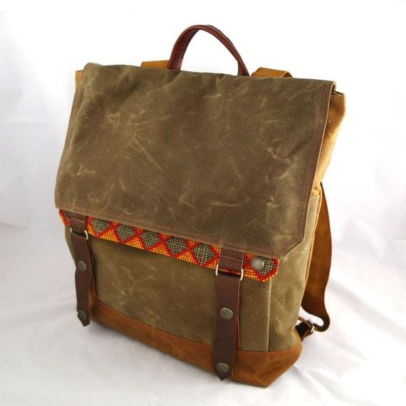 Buffalo Bill Waxed Canvas Backpack