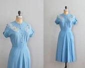 vintage 1940s Le Ciel linen dress
