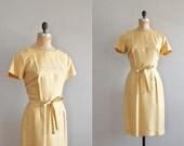 vintage 1950s Jonquil Silk dress