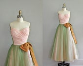 1950s dress / vintage 50s party dress / Fortune's Darling
