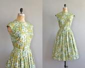 vintage 1950s Flowering Groundsel dress