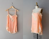 1920s lingerie / 20s flapper silk chemise / The Garconniere