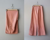 bell bottom jeans / 70s pants / wide leg pants / Blush Denim Bells