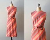 1950s dress / 50s cotton dress / striped / Satya dress