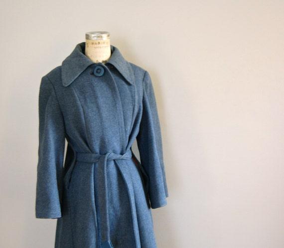 vintage 1940s SLATE BLUE Swing Coat