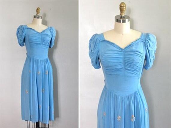 r e s e r v e d...vintage 1930s Blythe Spirit chiffon dress
