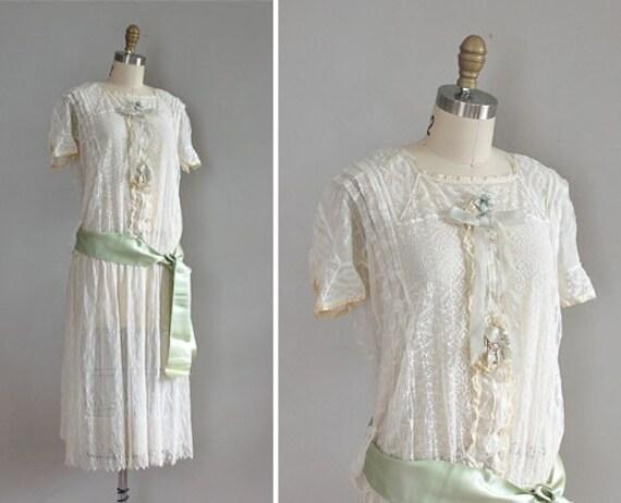 vintage 1920s on gossamer lace dress