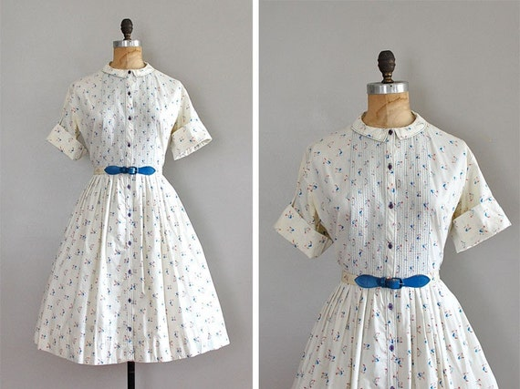 vintage 1950s DUTCH FARMER day dress