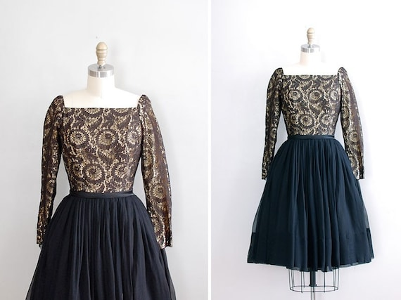 vintage 1950s Promises, Promises lace dress