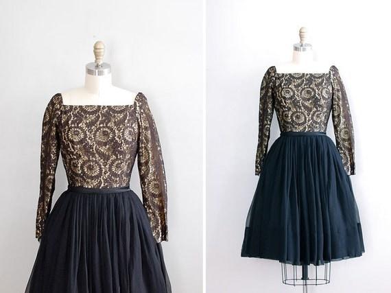 vintage 1950s Promises, Promises lace dress