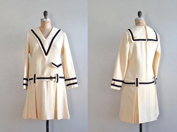 1960s I. Magnin Sailor wool dress