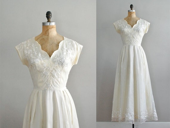 vintage 1940s Paillette embroidered dress