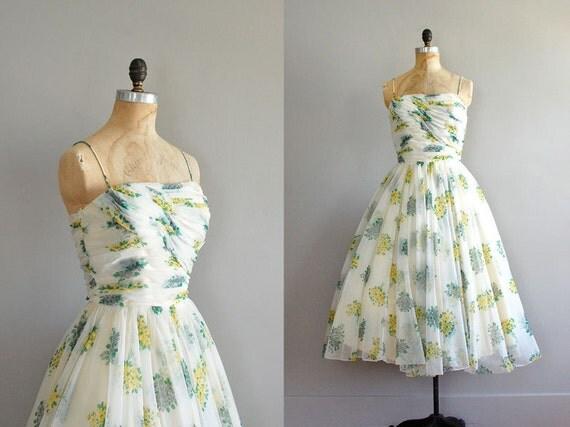 vintage 1950s dress / Easy Poetry chiffon dress