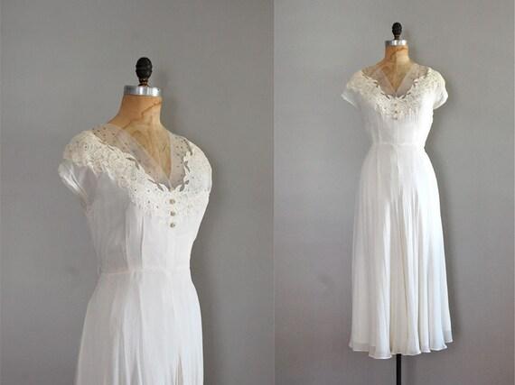 r e s e r v e d....vintage 1940s Encanto da Lua dress