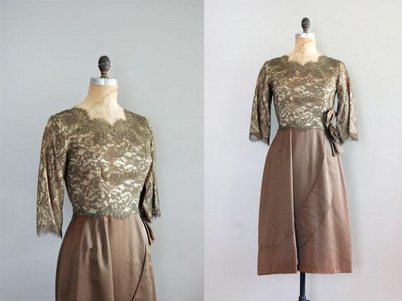 1950s dress / lace dress / Romanesca Lace