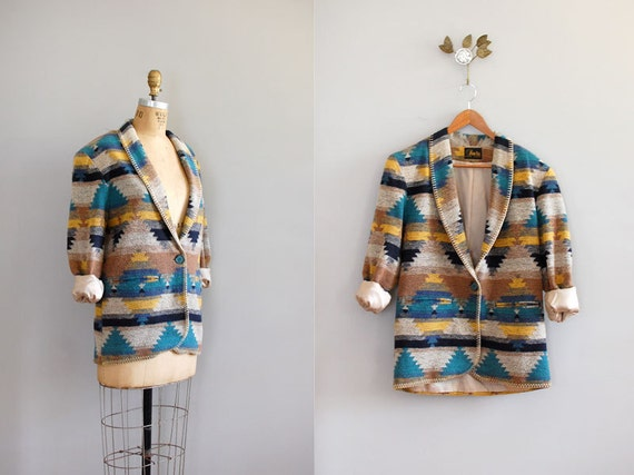 southwest blanket jacket / navajo coat / Sedona Coat