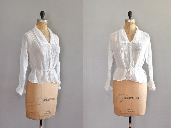 edwardian blouse / 1910s shirtwaist / Downtown blouse