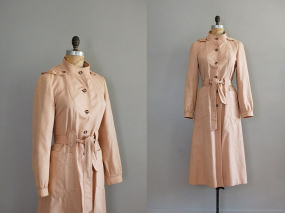 trench coat / 1970s trench / Hooded Princess Trench