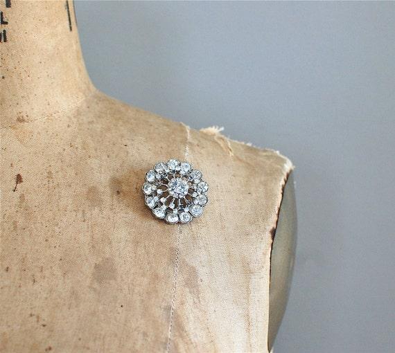 rhinestone brooch / 50s brooch / Light Wheel