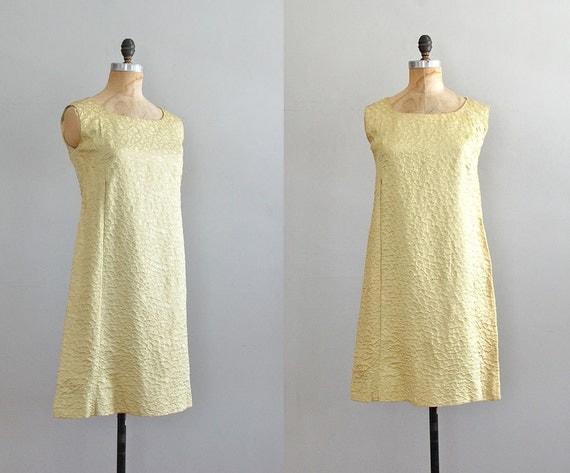 60s dress / metallic mod dress / Honeycomb dress