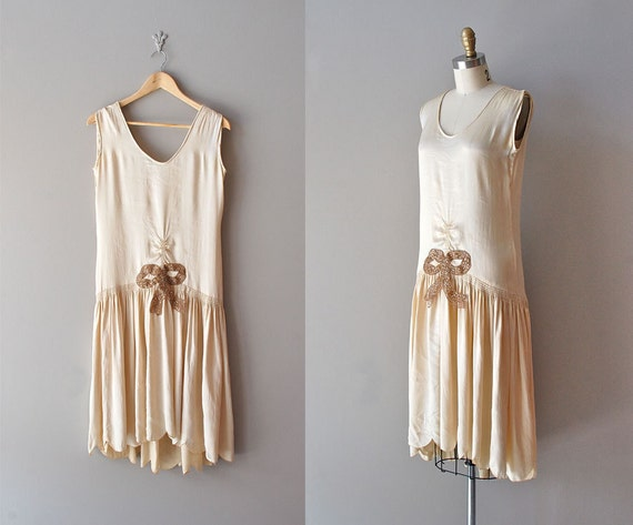 1920s dress / silk 20s dress / Ziegfeld Girl dress