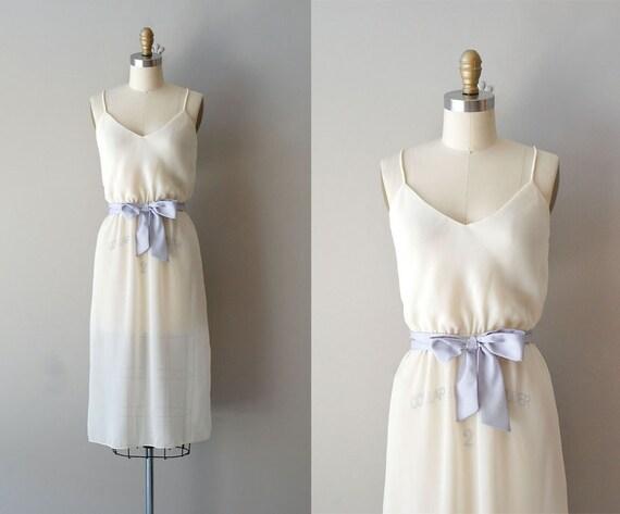 1970s dress / sheer chiffon dress / Charlie Girl dress