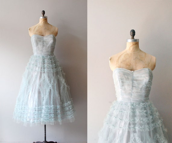 1950s dress / 50s party dress / tulle / Lovelier Still