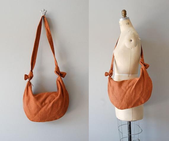slouchy bag / 70s bag / Burnt Burlap shoulder bag