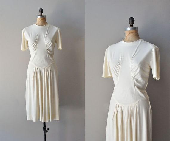 1930s dress / white 30s dress / Lindy Hop dress