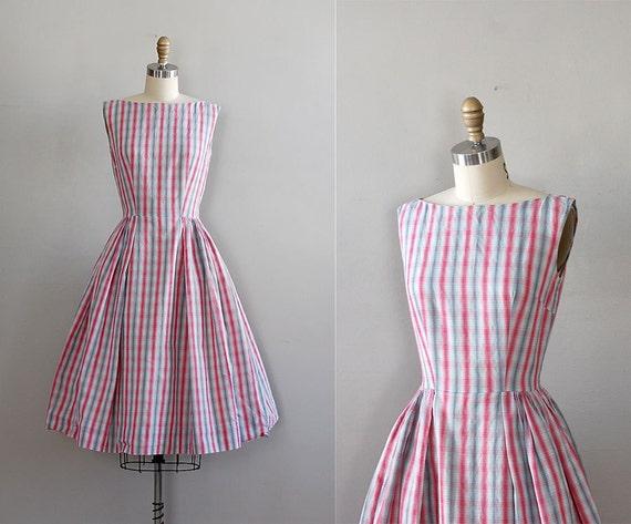 50s dress / 1950s dress / full skirt / UHF Plaid dress