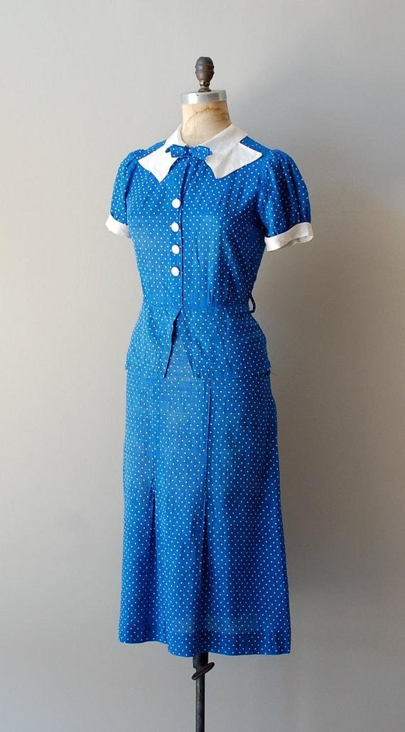 1930s Dress 30s Dress Deauville Dress