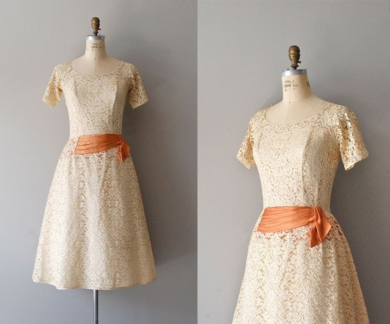 50s dress / lace dress / 1950s dress / Only Yesterday