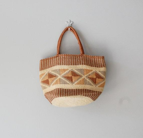 sisal bag / natural woven tote / Basket Bag
