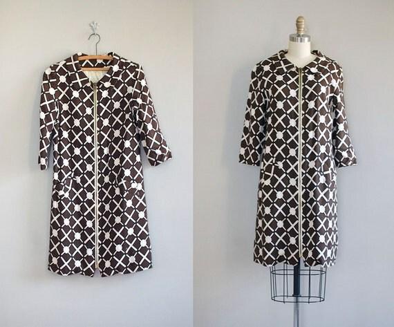 1960s coat / mod 60s coat / Tesseract Linen jacket