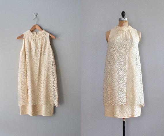 60s lace dress / 1960s dress / 60s wedding / Pearl Lace