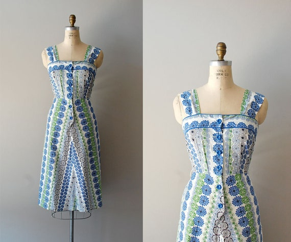 1950s dress / 50s dress / Spiroflower dress