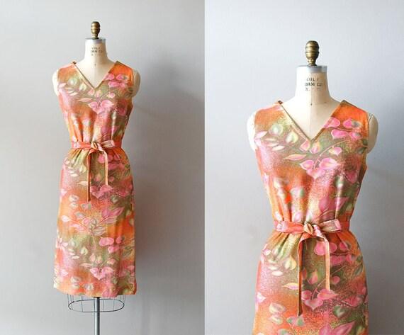 r e s e r v e d...1960s dress / 60s cocktail dress / Gilded Leaf dress